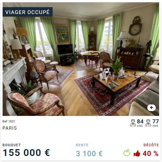 Viager occupé - 75012 paris